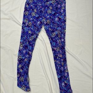 Floral and cross overlay Lularoe TC Leggings